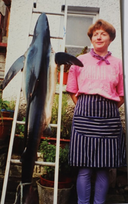 Eithna O Sullivan pictured beside a shark