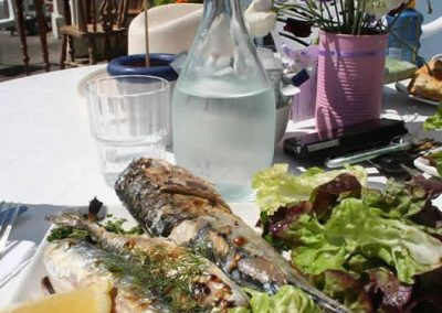 Fresh mackerel from Eithnas by the sea seafood restaurant
